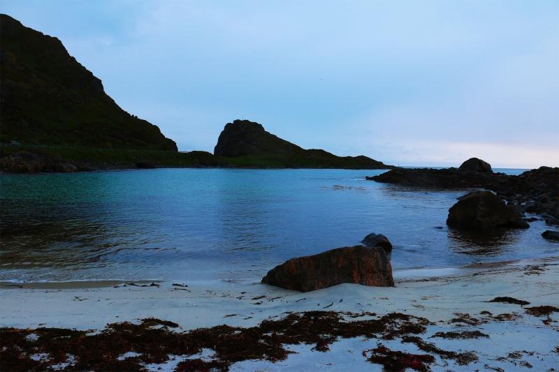 Am Meer campen auf den Lofoten