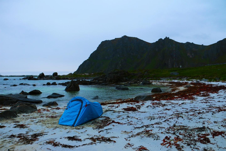 Zelten auf den Lofoten