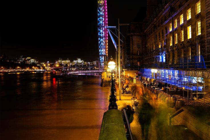 london_eye_night_view_lights_bridge_people