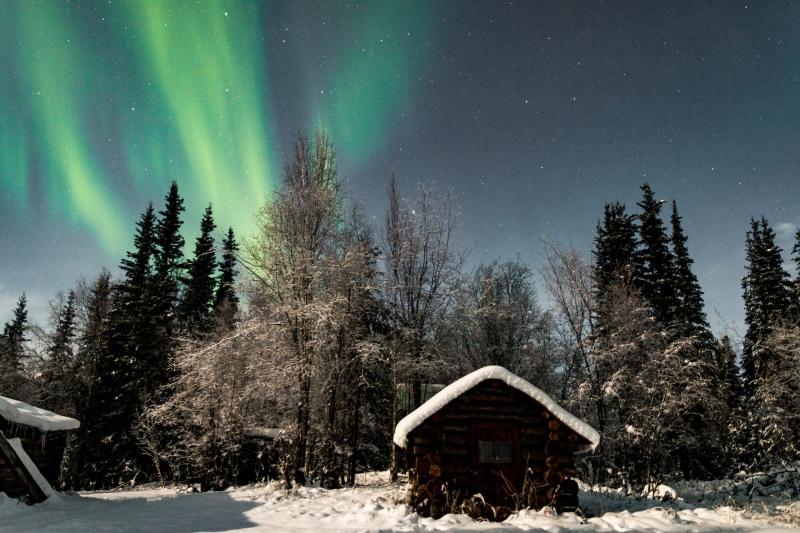 Alaska im Winter Nordlichter Tour