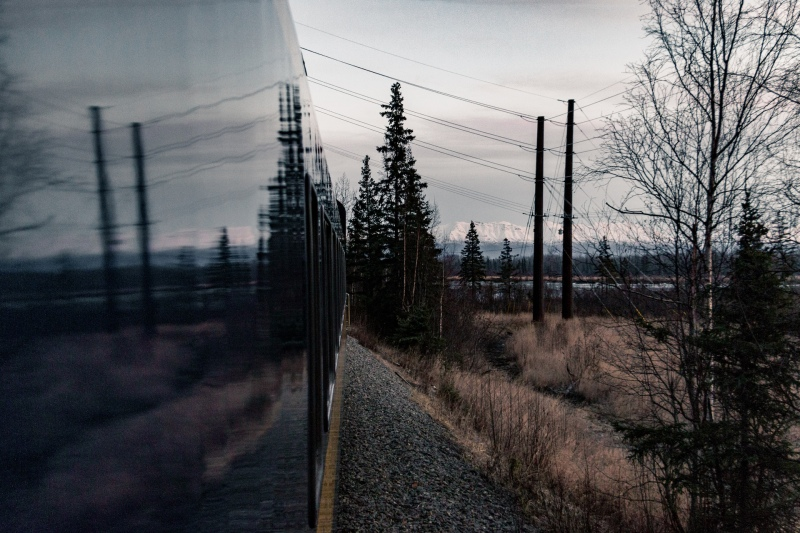 Eine Fahrt mit der Alaska Railroad im Winter
