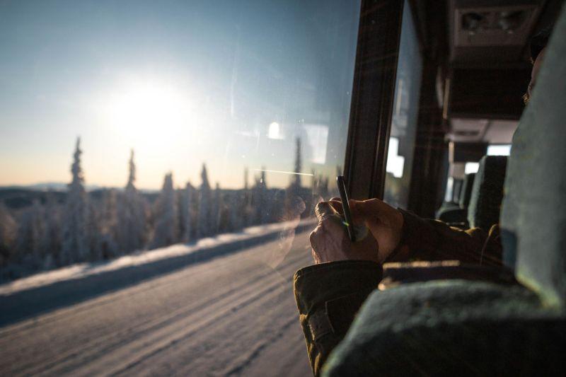 Reise nach Alaska im Winter